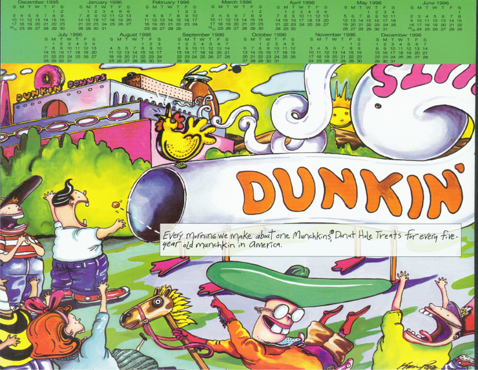 Dunkin Donuts illustration, by Kevin Pope.