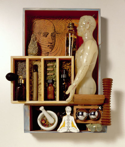Smithsonian, 3D illustration assemblage by Nancy Gibson-Nash. Rep: Richard Salzman